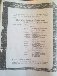 passed away add Theodor Johann